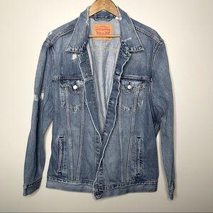 Levi's Distressed Denim Jacket Size 3XL